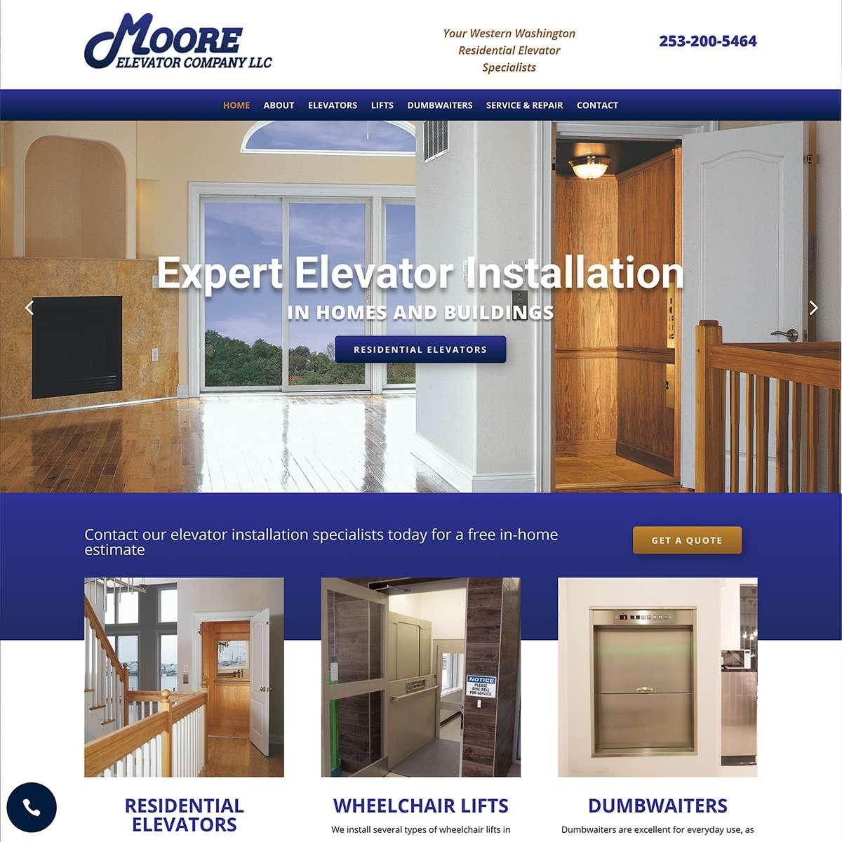 Elevator contractor website washington
